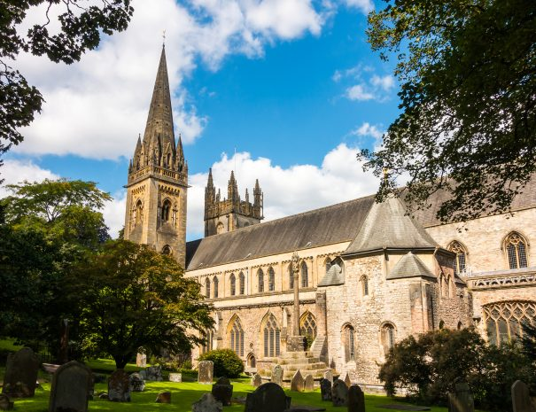 LLandaff Cathedral in Cardiff, Wales, United Kingdom